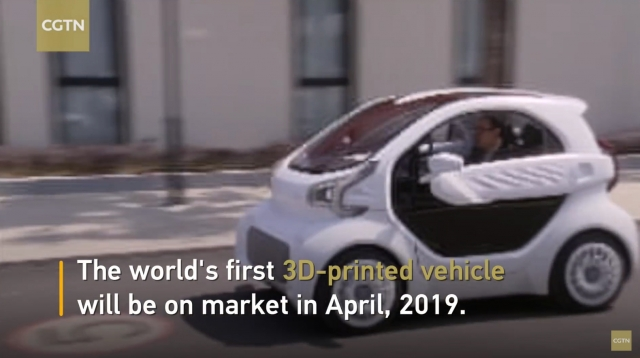3D printed electric car