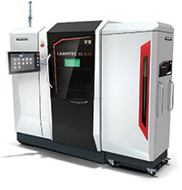 Not a hybrid, DMG MORI's Lasertec 30 SLM metal powder bed 3D printer offers dynamic adjustment of the laser beam's focus diameter.