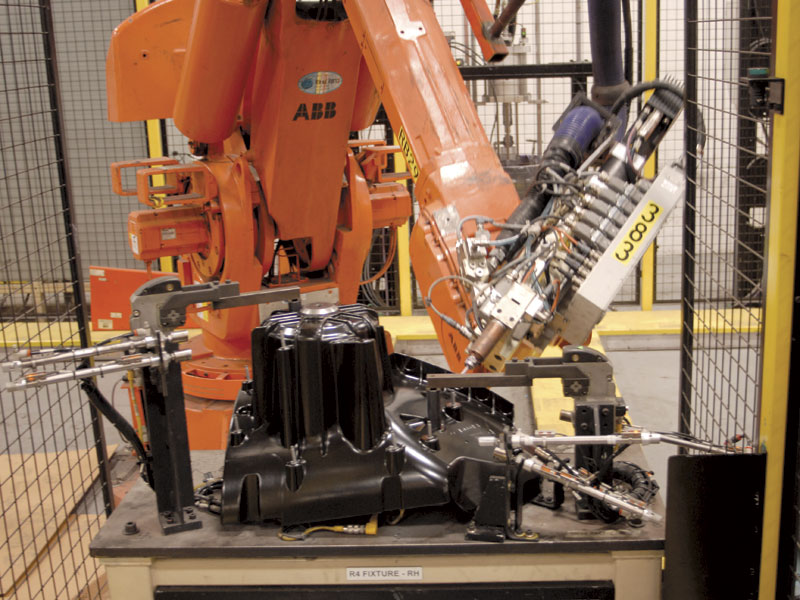 Automated welding cells help AGS Automotive Systems remain competitive.