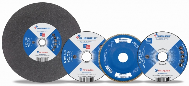 Air Liquide BlueShield abrasives line