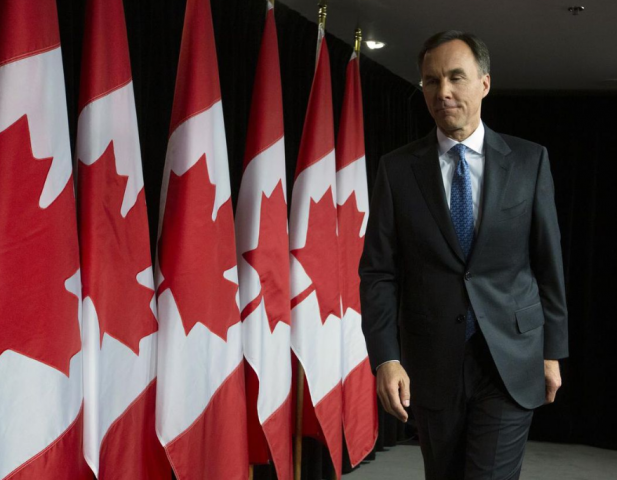 Morneau introduces 2019 budget. CP photo