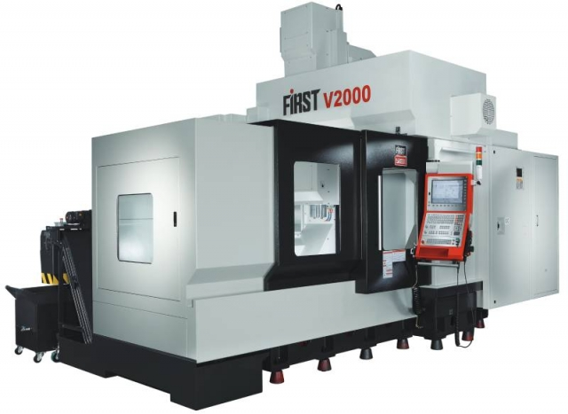The V2000 vertical machining centre from First uses MEEHANITE cast iron for all major machine parts