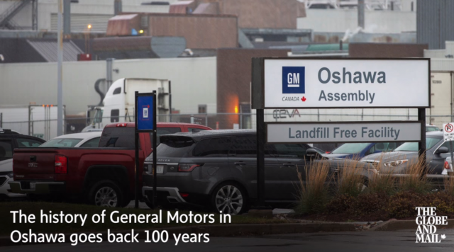 GM's history in Oshawa