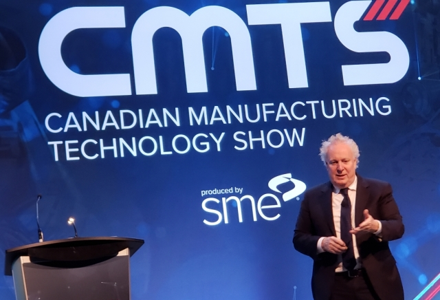 Jean Charest speaking at CMTS 2019