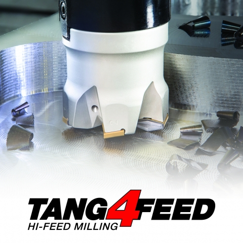 Tang4Feed family of high feed shell mill cutters
