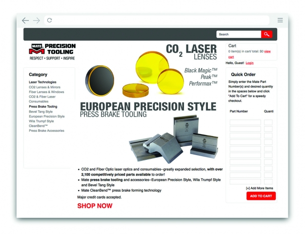 Mate Precision Tooling webstore