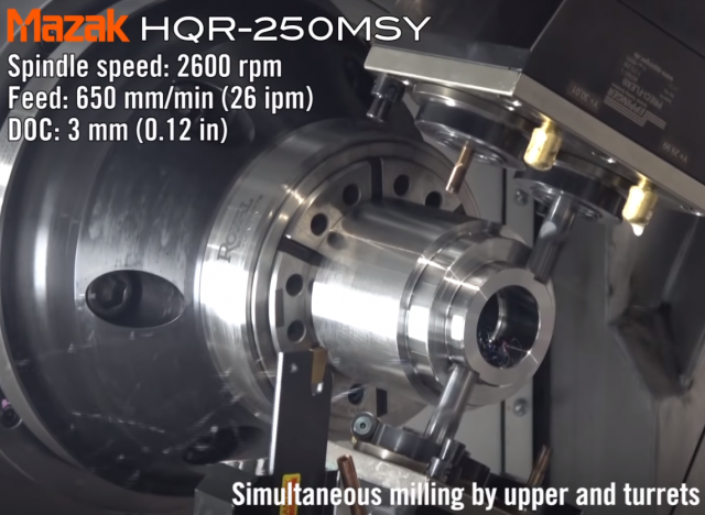 Mazak HQR 250MSY in action