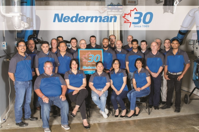 Nederman Canada's 30th anniversary