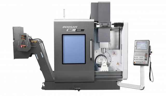 See Doosan's new DVF 5000 five axis machining center at Ferro Technique, Booth #2719