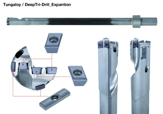 Tungaloy's DeepTriDrill series expanded