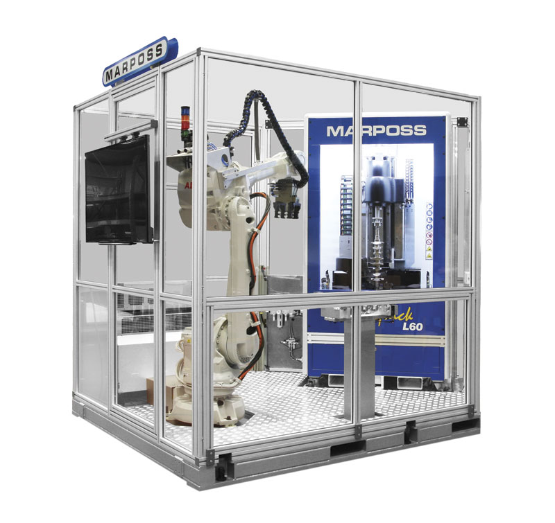Marposs Optoquick L60 automatic loading station. Optoquick is flexible optical technology for use in production environments.