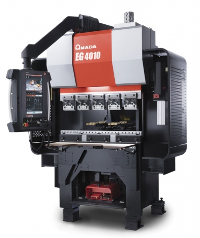Amada's EG 4010 is a compact press brake designed to produce small metal components that demand a high degree of precision. IMAGE: Amada