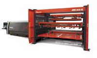 Amada's AMS 3015 CL is a modular laser automation system that can be customized to accommodate different shop floor layouts and material flow. IMAGE: AMADA