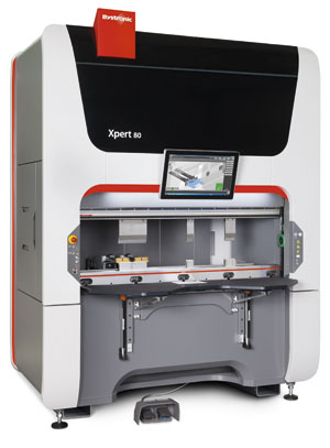 Bystronic's Xpert 80 portable press brake can be moved easily using a forklift. IMAGE : Bystronic