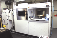 "The Learning Factory houses a number of ""smart"" technologies, including this EOS additive manufacturing machine."
