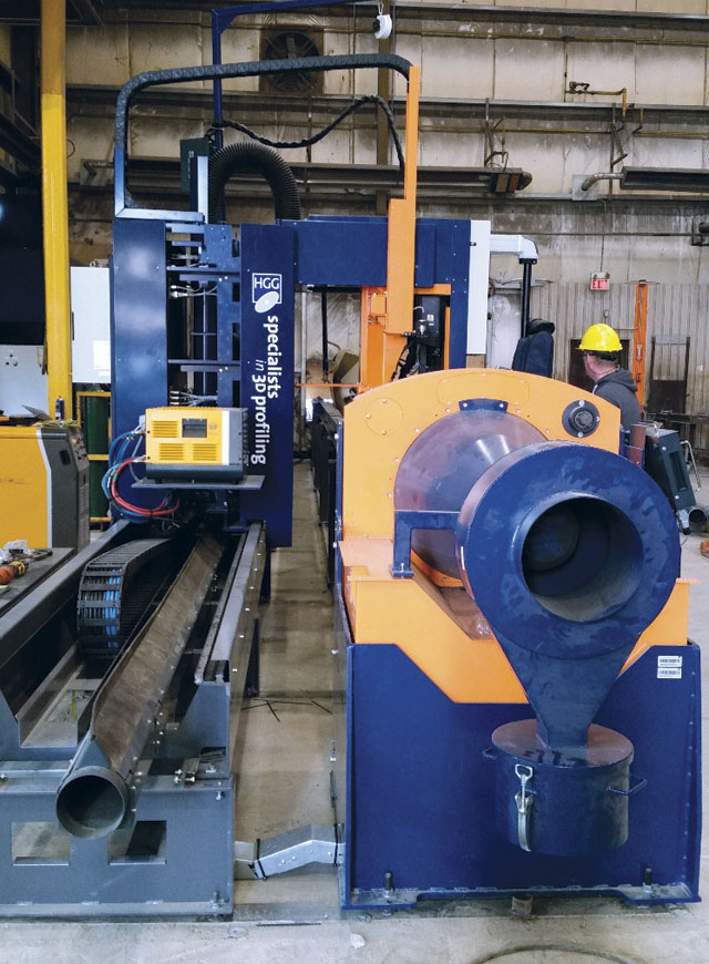 The automated HGG pipe cutting system has eliminated the bottleneck Propak experienced with an older manual pipe cutting machine.