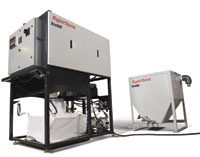 Hypertherm's EcoSift captures, recycles and reuses spent abrasive.