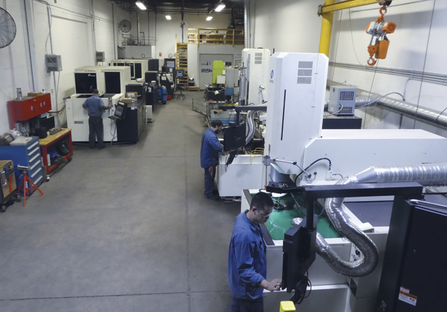 Fidelity's machine shop includes a broad range of equipment, including EDM operations, which has become the company's fastest growing department.