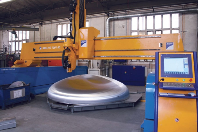 With the mScan software, MicroStep plasma machines have the ability to do 3D cutting on domes, a process aimed at the pressure vessel and tanker manufacturing industries.	IMAGE: MicroStep
