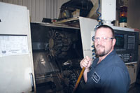H&O plant manager Mike McDougall has worked at the company for more than 30 years. Image: H&O Cylindrical