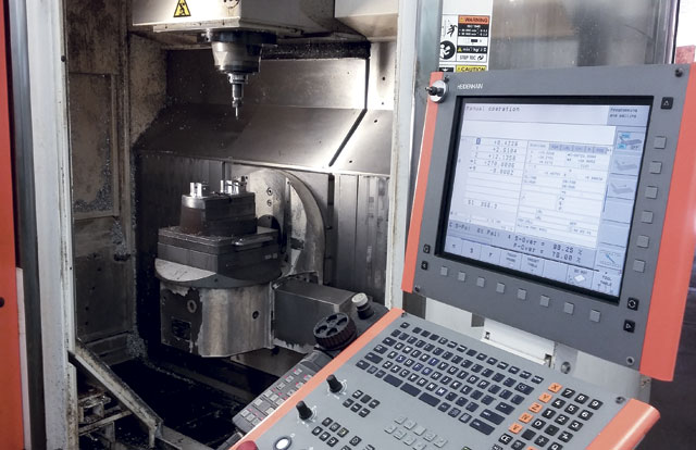 The ease of use of the Heidenhain control on this Mikron UCP 600 Vario is one of the reasons Daniel Surprenant is a GF Machining customer.