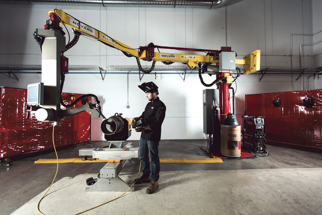 The SWR system from BC company Novarc Technologies uses robotics and human input to optimize pipe welding operations. The company developed the technology with R&D support from Lincoln Electric Co. of Canada.