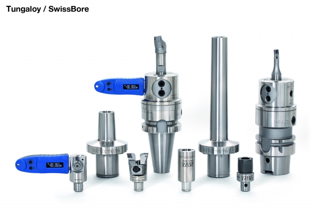 Tungaloy's new SwissBore fine internal boring tool system