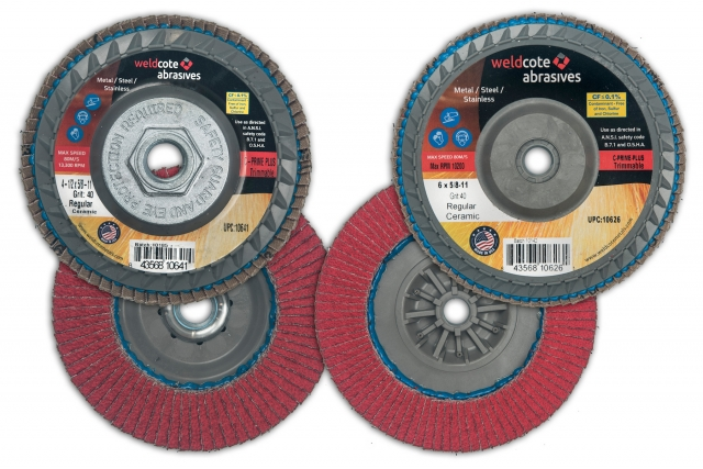 Weldcote trimmable flap discs