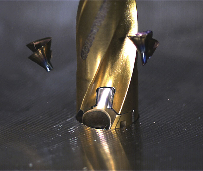 "A ""true flat bottom geometry"" on Ingersoll's Gold-Twist drill doesn't sacrifice chip control, says Susan Valenti, product manager for holemaking."