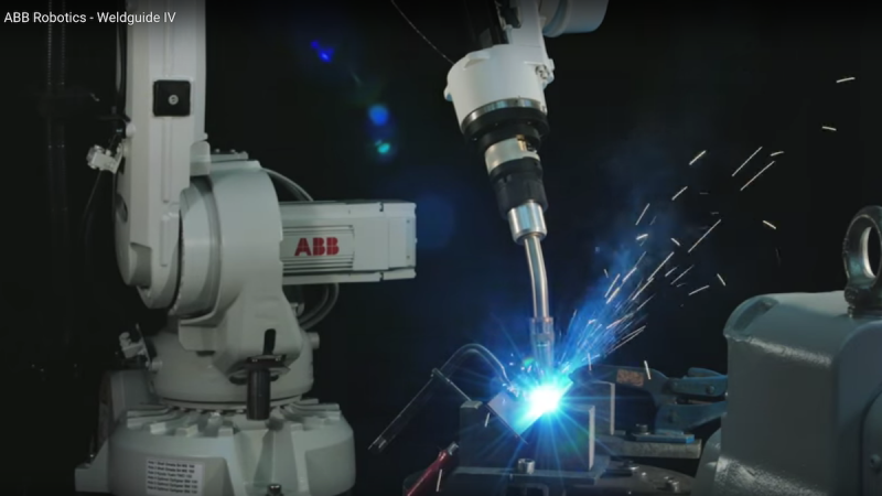 "Robotic arc welding tracking: ABB's WeldGuide is a combined process control and ""through the arc"" adaptive seam tracking system integrated into the robot controller"