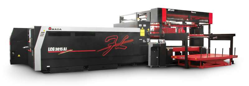 Amada's fiber laser system equipped with MPL Automation