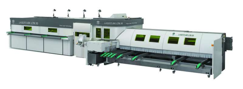 BLM Group USA's 3D fiber laser tube cutting system