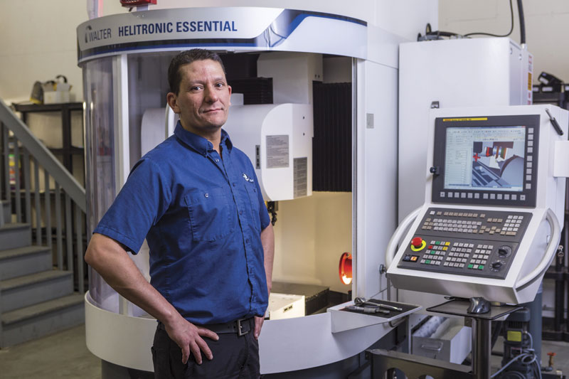 David Laflamme, president of Précicut, says the Walter tool grinder was essential to meet growing customer needs and adds he plans to purchase a second Walter CNC tool grinder for future growth needs.