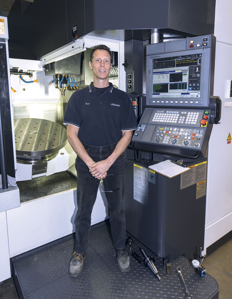 Dave McCaughrin, says his new Okuma five axis machining centre has the capabilities to meet his customers' needs.