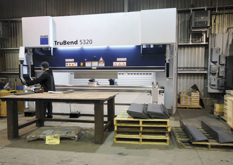 GMW's fabrication equipment, consisting primarily of TRUMPF machines, includes, press brakes, laser cutting and punching machines.