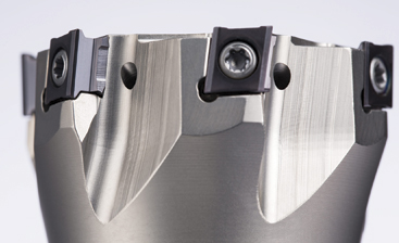Horn's 406 tangential milling system now includes side and screw-in milling cutters.