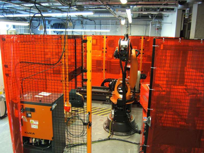 TAH's high speed robotic cladding system at NRC in BC