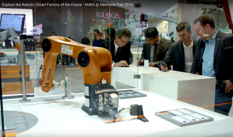 KUKA robotic smart factory of the future Hannover Fair 2016