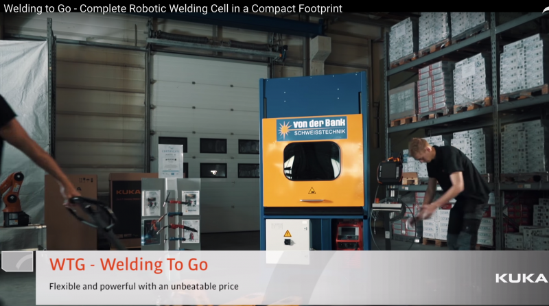 KUKA's welding-to-go robotic welding cell in a compact footprint