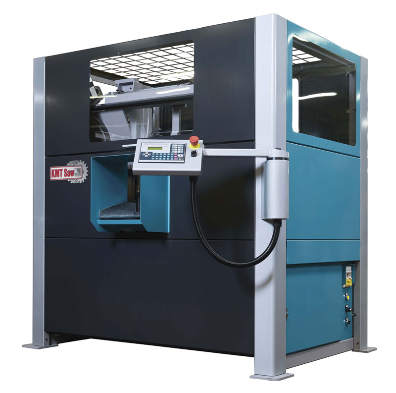 Kalamazoo's automatic double column band saw designed for high volume production environments.