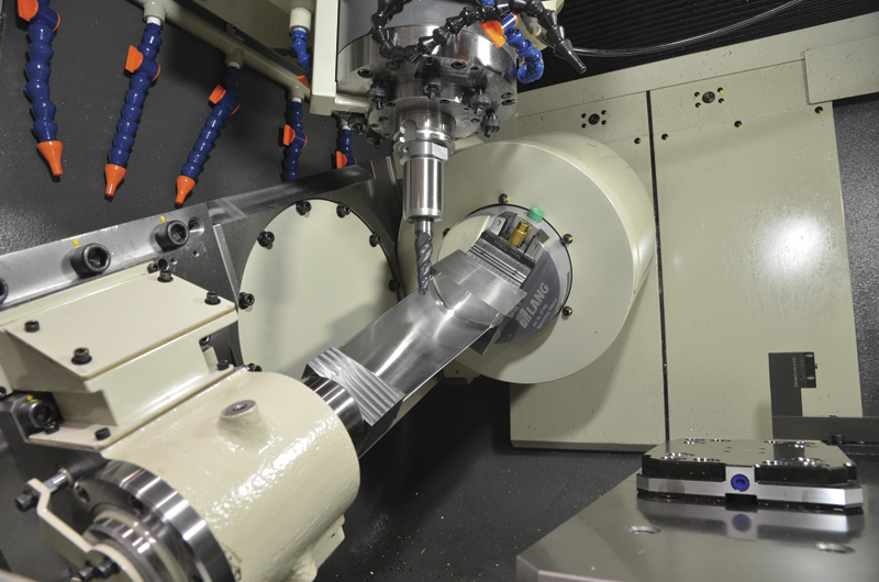 Hand scraping of way surfaces and critical machine components is a tedious but necessary part of machine tool accuracy. image: Mitsui Seiki