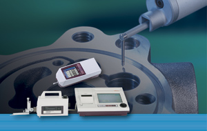 Portable surface roughness testers from Mitutoyo.