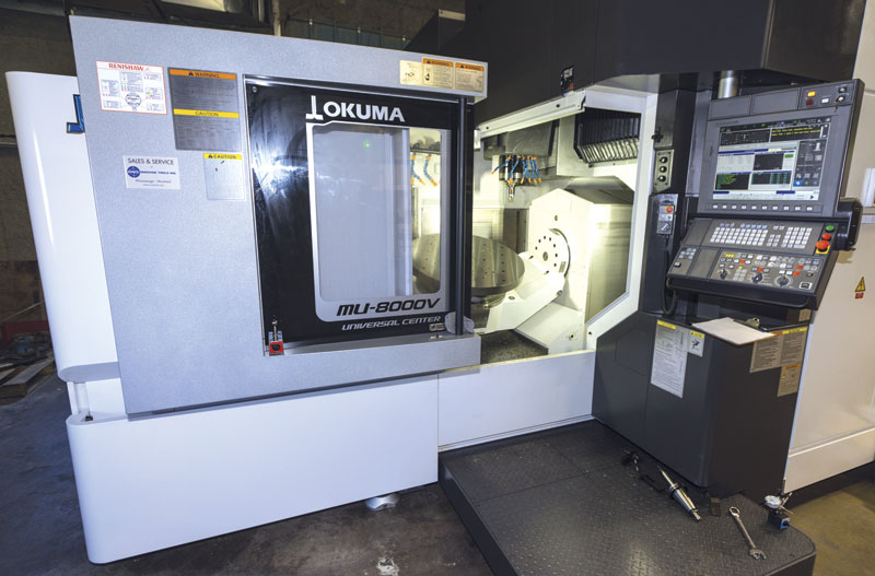 The Okuma five axis machining centre at Leemark Enterprises will help the company remain competitive, says president Dave McCaughrin.