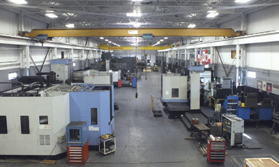 Rova Machine's 2,200 sq m (24,000 sq ft) manufacturing operation houses a variety of machine tools, including four Doosan machines, three of which can seen here in the forefront.