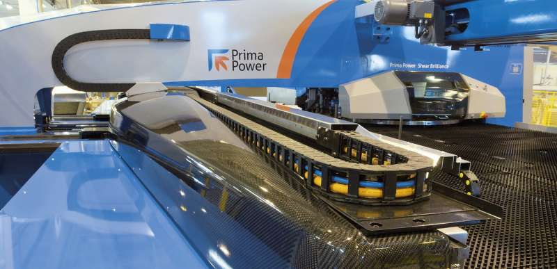 Prima Power's Shear Brilliance punching and shearing cell