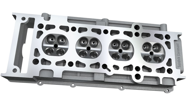Fine finishes and extreme flatness are two attributes required of today's high performance cylinder heads.  Image: Sandvik Coromant