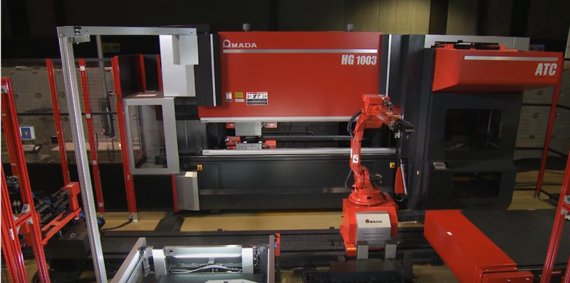 Amada's HG series press brakes and patented Automatic Tool Changer (ATC)