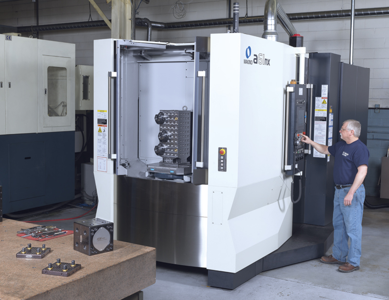 The Makino a61nx HMC equipped with a FCS modular workholding system has helped the company to slash setup times and increase machining efficiencies.