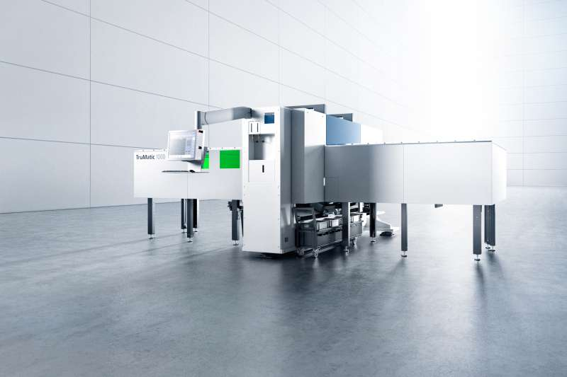 TRUMPF's TruMatic 1000 fiber first entry level punch laser combination machine