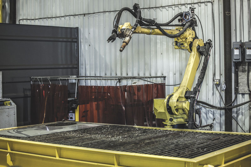 The robotic workcell for plasma cutting and welding combined with Robotmaster's robotic programming system has helped to increase production efficiencies at Groupe Gravel's operation in Marieville, QC.